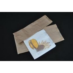 Bolsa papel kraft 14+7x30