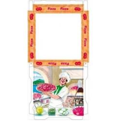 Caja cartón pizza 26x26x3,5cm