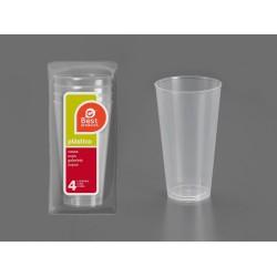 Vaso coctel plástico...