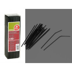 Cañas flexibles color negro...